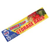 STORAGE BAGS 15 CT 1 GALLON ZIP TOP