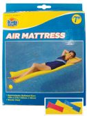 POOL FLOATER AIR MATTRESS 72 X 27 INCH ASSORTED COLORS AGES 14+ PREPRICED $7.99