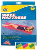 WAVE MATTRESS 85.5 X 34.5 INCH ASSORTED COLORS AGES 14+ PREPRICED $7.99