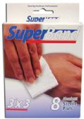 SUPER BAND STERILE PADS 8 COUNT 3 X 3 INCH BOXED