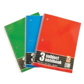 SPIRAL NOTEBOOK 3 SUBJECT 120 SHEET 10.5 X 8 INCH WIDE RULED