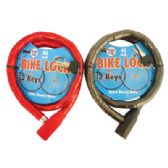 PRIDE BICYCLE CHAIN LOCK 42 INCH WITH 2 KEYS HEAVY DUTY ASSORTED COLORS