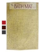 CHENILLE BATH MAT 18 X 28 INCHES ASSORTED COLORS