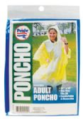 ADULT PONCHO 52 X 80 INCH ASSORTED COLORS