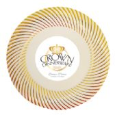 CROWN DINNERWARE DINNER PLATE 10 PACK 10 INCH DISTINCTIVE COLLECTION GOLD
