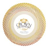 CROWN DINNERWARE LUNCH PLATE 10 PACK 9 INCH DISTINCTIVE COLLECTION GOLD