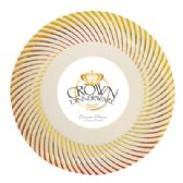 CROWN DINNERWARE DESSERT PLATE 10 PACK 7 INCH DISTINCTIVE COLLECTION GOLD