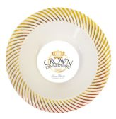 CROWN DINNERWARE SOUP BOWL 10 PACK 12 OZ DISTINCTIVE COLLECTION GOLD