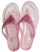 LADIES EMBELLISHED JELLY FLIP FLOPS ASSORTED SIZES 5-11