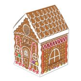 "3-D Gingerbread House Centerpiece 8"" CARDBOARD"