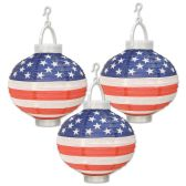 Light-Up Patriotic Paper Lanterns requires 2 AAA batteries not included