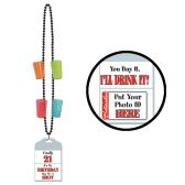 21st Birthday Party Beads 4neon shooters & ID holder attached