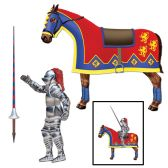 Jointed Jouster horse & lance cutouts included