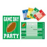 Game Day Football Invitations envelopes included; prtd 2 sides