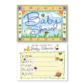 B Is For Baby Invitations envelopes included; prtd 2 sides