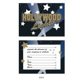 Hollywood Lights Invitations envelopes included; prtd 2 sides