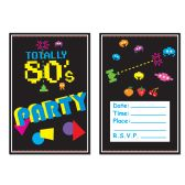 80's Invitations envelopes included; prtd 2 sides