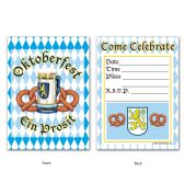 Oktoberfest Invitations envelopes included; prtd 2 sides