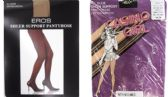 Sheer Support Pantyhose - Off Black & Jet Black - Medium Only - Closeout