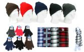 Cuffed Winter Hats, Magic Gloves, and Checkered Scarves Combo Packs