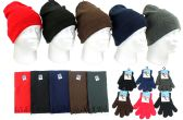 Children's Cuffed Knit Hats, Magic Gloves, and Solid Scarves