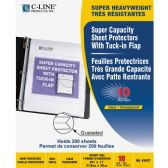 C-line Super Capacity Sheet Protector with Tuck-in Flap