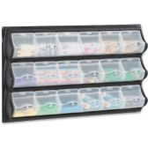 Safco 18-Pocket Panel Bins
