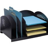 Safco 3 & 3 Combination Rack Desktop Organizer