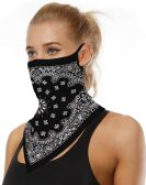 Assorted Printed Neck Gaiter Scarf Shield Bandana With Ear Loops Face Cover Balaclava for Dust Masks
