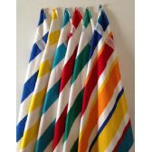 BK Cabana Stripes-Top of the Line Beach Towel 100% Cotton Yellow Color