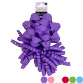 Bow Set 2pk Star & Curly Solid 6ast Shiny Varnish Colors