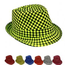 Checkered Assorted Fedora Hat