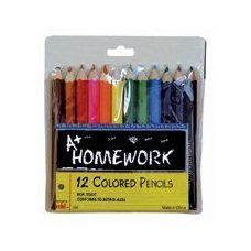 Colored Pencils - 12 pk - Mini - 3inch - Asst. Colors
