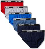 Gildan Mens Briefs, Assorted Colors And Sizes 2XL Only Assorted Colors First Quality