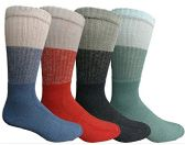 Mens Anti-Microbial Crew Socks, Comfort Knit Ringspun Cotton, Terry Lined