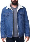 Mens Denim Fleece Jacket