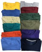 Mens First Quality Cotton Short Sleeve T Shirts Mix Colors Size S, M, L, 2XL and 3XL Assorted
