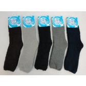 Mens Super Soft Solid Color Fuzzy Socks