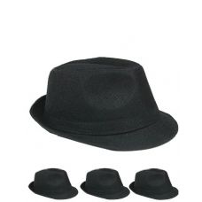Unisex Fedora Hat In Solid Black