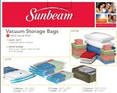 Sunbeam 12 Piece Plastic Vacuum Bag