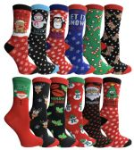 Yacht & Smith Christmas Holiday Socks, Sock Size 9-11 360 Pair Pack