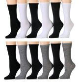 Yacht & Smith Women's Thin Assorted Basic Colors Crew Socks