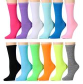 Yacht & Smith Women's Thin Assorted Colors Crew Socks