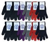 Yacht & Smith Women's Warm And Stretchy Winter Magic Gloves 240 Pairs