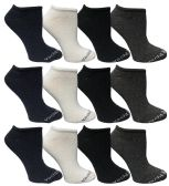 Yacht & Smith Womens Cotton Low Cut No Show Loafer Socks Size 9-11 Solid Assorted BULK BUY