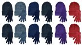 Yacht & Smith Womens Warm Winter Sets 240 Pairs Of Gloves And 240 Hats